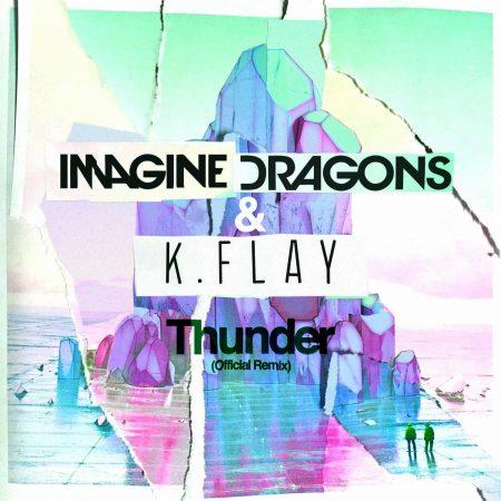 """Com três músicas no """"Top Rock Songs"""" da Billboard, Imagine Dragons lança remix oficial de """"Thunder"""", feito pela DJ K.Flay"""