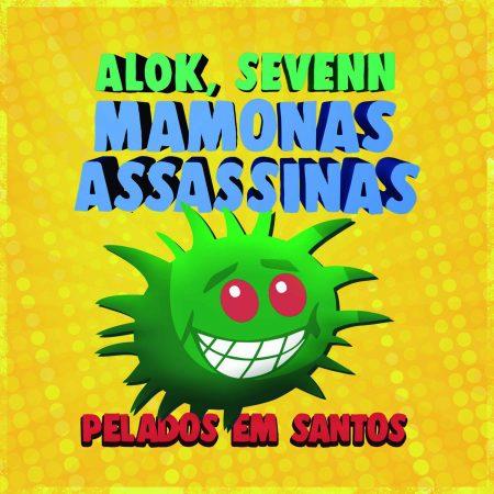 """O hit """"Pelados Em Santos"""", do Mamonas Assassinas, ganha uma versão """"Brazilian Bass"""", do DJ Alok, em parceria com a dupla de Djs americanos Sevenn"""