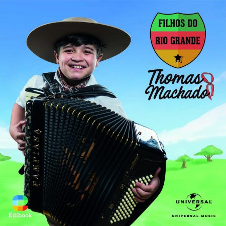 "O gauchinho Thomas Machado, campeão da segunda temporada do ""The Voice Kids"", lança o CD e o álbum digital ""Filhos do Rio Grande"""