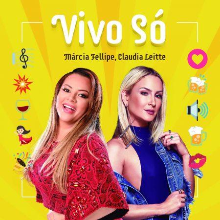 """A fenomenal Márcia Fellipe acaba de lançar o single e o lyric video de """"Vivo Só"""", com a participação de Claudia Leitte, além de medley com duas faixas"""