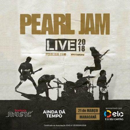 Últimos dias para assistir ao show do Pearl Jam no Rio de Janeiro, em 21 de março, com tudo pago!