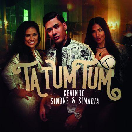 """O hit """"Ta Tum Tum"""", de Simone & Simaria e MC Kevinho, acaba de completar um mês em 1º lugar no TOP Brasil do Spotify"""
