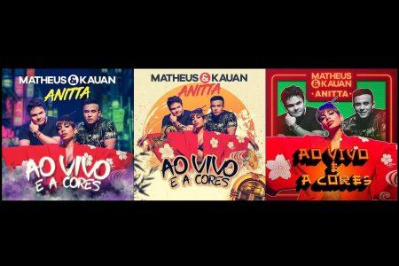 A dupla Matheus & Kauan se prepara para lançar música com Anitta e quem escolhe a capa do single são os fãs