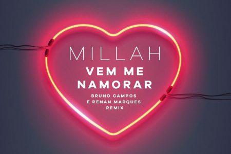 """A cantora Millah lança o remix da música """"Vem Me Namorar"""", com produção dos DJs Bruno Campos e Renan Marques"""
