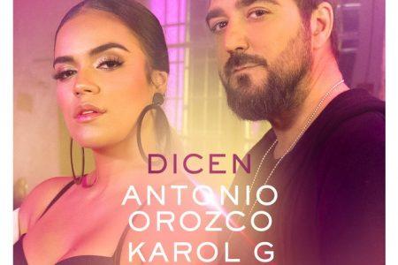 """O cantor Antonio Orozco lança, em parceria com Karol G, o novo single e videoclipe de """"Dicen"""""""