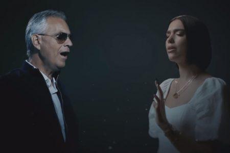 """Assista ao videoclipe de """"If Only"""", parceria do astro Andrea Bocelli com Dua Lipa"""