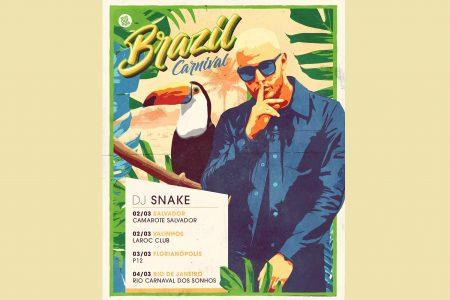 DJ Snake anuncia turnê no carnaval brasileiro