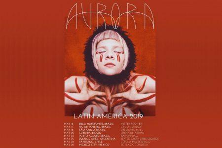 Aurora anuncia shows em cinco cidades brasileiras em 2019