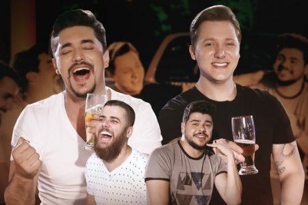 """Os sertanejos George Henrique & Rodrigo, em colaboração com a dupla Zé Neto & Cristiano, apresentam a música e o clipe de """"Compartilhando Mágoa"""""""