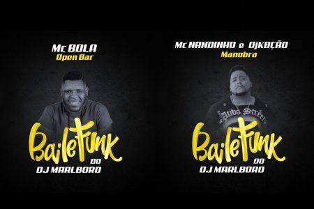 """DJ Marlboro conta com MC Bola no lançamento da música """"Open Bar"""" e com a participação de MC Nandinho e DJ Kbção, na faixa """"Manobra"""""""