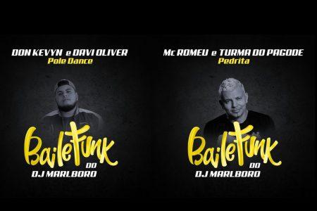 """O """"Baile do Marlboro"""", novo projeto do DJ Marlboro, segue a todo vapor. Ouça as faixas """"Pedrita"""", com a participação de Turma do Pagode e MC Romeu. A faixa """"Pole Dance"""" traz a colaboração de Don Kevyn e Davi Oliver"""