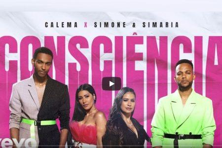 """SIMONE E SIMARIA E CALEMA LANÇAM CLIPE DE """"CONSCIÊNCIA"""""""