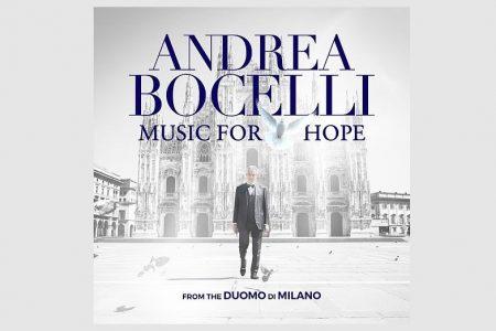 """ANDREA BOCELLI REALIZA APRESENTAÇÃO EM MILÃO PARA CERCA DE QUATRO MILHÕES DE ESPECTADORES. JÁ ESTÁ DISPONÍVEL O EP """"MUSIC FOR HOPE: FROM THE DUOMO DI MILANO"""""""