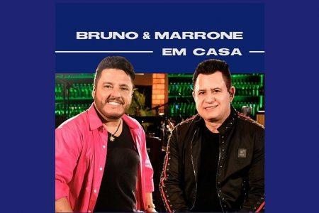 """OS SERTANEJOS BRUNO & MARRONE APRESENTAM O ÁLBUM """"BRUNO & MARRONE EM CASA"""", COM SEUS MAIORES SUCESSOS"""