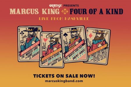 "O FENÔMENO DA MÚSICA MARCUS KING ACABA DE ANUNCIAR SUA SÉRIE DE SHOWS ONLINE, ""FOUR OF A KIND, LIVE FROM NASHVILLE"""