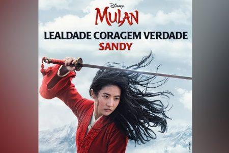 """SANDY CANTA """"LEALDADE CORAGEM VERDADE"""", DO FILME """"MULAN"""""""