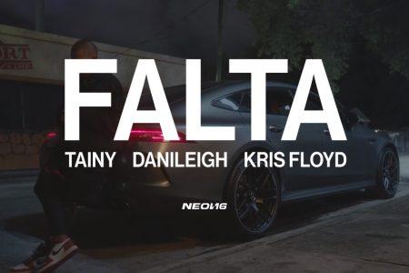 """ASSISTA AO VIDEOCLIPE DE """"FALTA"""", NOVA MÚSICA DE TAINY, DANILEIGH E KRIS FLOYD"""
