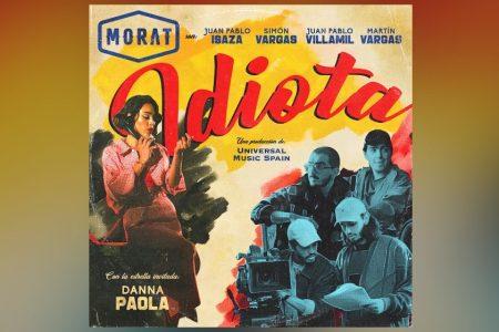 """A AGUARDADA COLABORAÇÃO DO MORAT COM DANNA PAOLA ENTRA NAS PARADAS LATINAS COM O NOVO SINGLE, """"IDIOTA"""""""