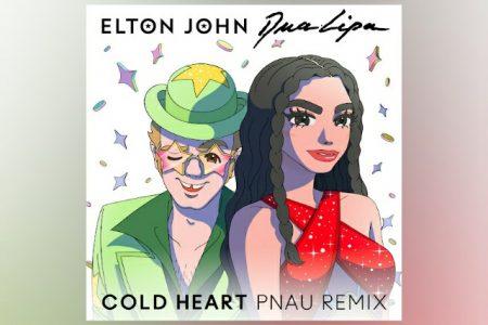 """ELTON JOHN E DUA LIPA SE JUNTAM PARA O LANÇAMENTO DA VERSÃO REMIX DA FAIXA """"COLD HEART"""""""